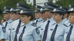 Queensland Police Graduation Ceromony (49) Stock Footage