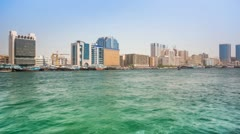 Dubai creek right site HD Stock Footage