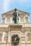 Manzoni statue, milan Stock Photos