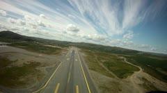 Take Off Runway Norway - stock footage