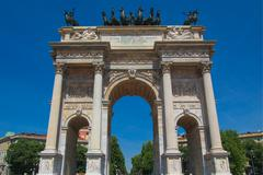 Stock Photo of arco della pace, milan