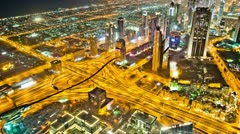 Traffic from Burj Khalifa Zoom HD Stock Footage