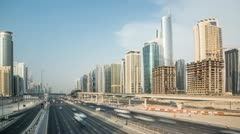 Sheikh zayed road other site HD Stock Footage