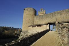 rocca di staggia (tuscany) - stock photo