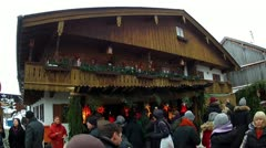 Christmas market in benediktbeuern, upper bavaria Stock Footage
