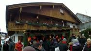Christmas market in benediktbeuern, upper bavaria Stock Footage