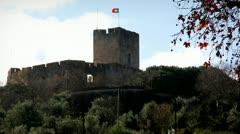 medieval castle tomar - stock footage