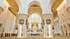 Sheikh Zayed mosque HD - stock footage