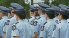 Queensland Police Graduation Ceromony (50) Stock Footage