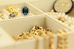 Jewelry in a box - stock photo