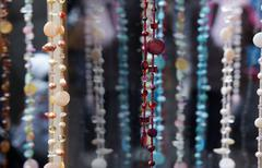 Necklaces with pearls and beads - stock photo