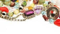 Cheap jewelry mix - stock photo