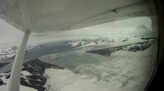 Low Altitude Flying above the Ice Cap Stock Footage