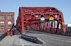 The broadway bridge, portland or. Stock Photos