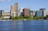 Stock Photo of portland oregon skyline, in spring.