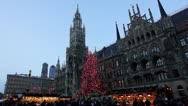 Christmas market in munich, germany Stock Footage
