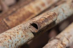 Rusty pipes in the background Stock Photos