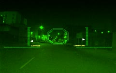 Nightvision Targeting driving Stock Footage