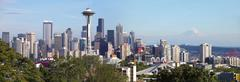 Seattle Washington panoraama & mt. Kuvituskuvat