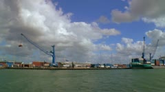 Loading docks at Port of Miami Stock Footage