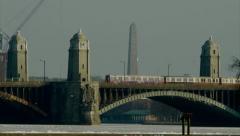 Bridge with Train Stock Footage