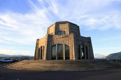 vista house at crown point, columbia river gorge oregon. - stock photo