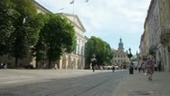 Stock Video Footage of Lviv town hall and market square