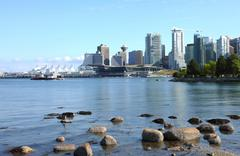 Vancouver bc skyline, canada. Stock Photos