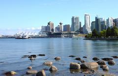 Vancouver bc horisonttiin, kanada. Kuvituskuvat