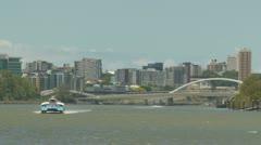 Brisbane City & CityCat (1) Stock Footage