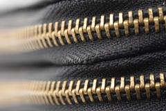 Zipper shut. macro Stock Photos