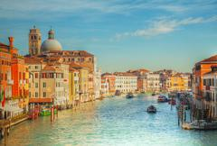 View to grande canal in venice, italy Stock Photos