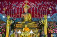 Buddha statue in a church. Stock Photos