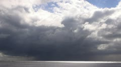 Storm clouds above sea time lapse Stock Footage