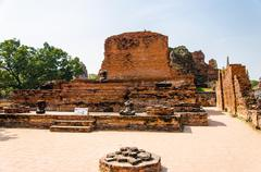 buddha  at ayutthaya, thailand. - stock photo