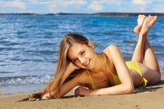 Stock Photo of summer girl