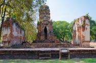 Buddha  at ayutthaya, thailand. Stock Photos