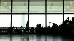 Scene in airport Stock Footage
