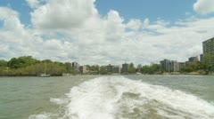 View from CityCat in Brisbane Stock Footage