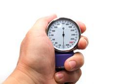 tonometer on a white background - stock photo