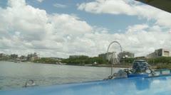 Brisbane big wheel (slow motion) Australia Stock Footage