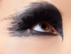 girl's eye-zone make-up - stock photo