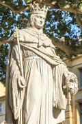 statue of king rene of anjou, aix-en-provence - stock photo