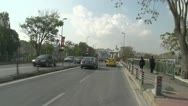 Drive plate, Istanbul into city, taxis and traffic Stock Footage