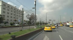 Drive plate, Istanbul into city, taxis and mini buses Stock Footage