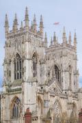 Stock Photo of york minster castle england uk