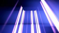 Vertical lines 3D Stage lights 5 Stock Footage