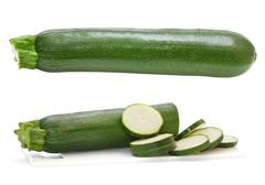 zucchini isolated on a white background - stock photo