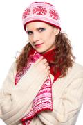 Stock Photo of beautiful girl with winter clothes