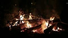 Christmas eve fireplace _1 Stock Footage